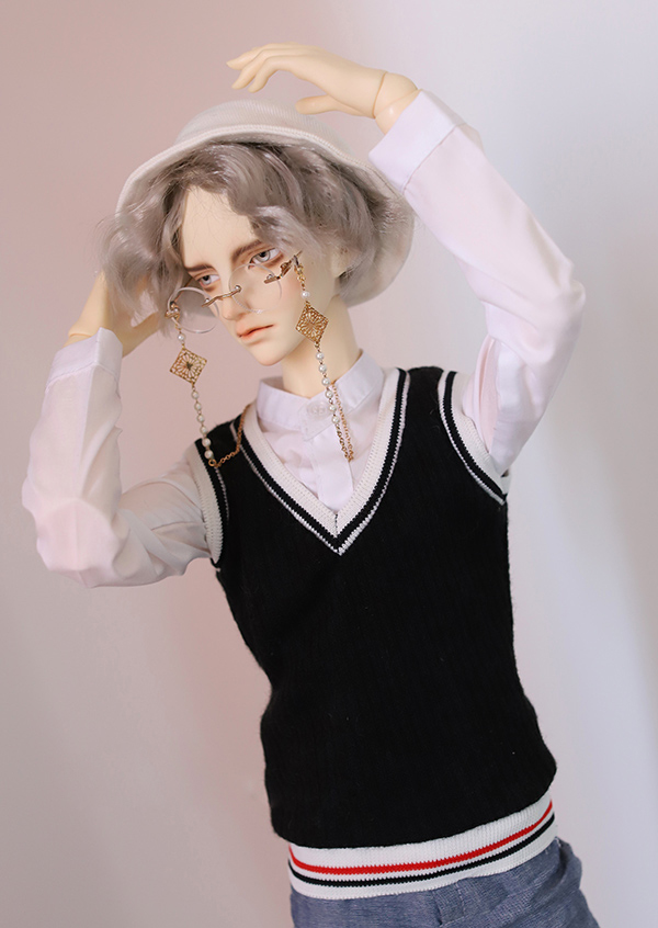 Cool Drape Casual Jacket Coat for 1//4 MSD 1//3,SD17 Uncle BJD Doll Clothes CMB8