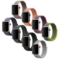 CRESTED Sport Woven Nylon Loop Strap For Apple Watch Band Wrist Braclet Belt Fabric Like Nylon