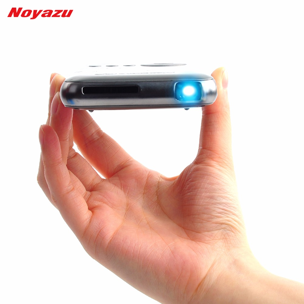 Noyazu 1500 lumens 32gb hdmi in mini dlp projector for Smart pocket projector