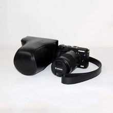 Luxury Pu Leather Video Bag Camera Case For EOS M3