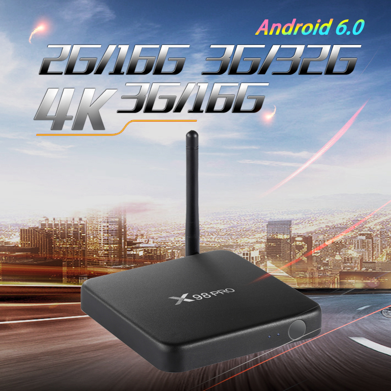 X98 PRO Android TV Box 3GB 32GB Metal Case Amlogic S912 Octa Core 2.4G/5GHz Wifi 4KBluetooth 4.0 HDR10 Media player pk X92