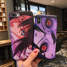 LISM Casing For iPhone 6 6S 7 8 Plus X XR XS Max Naruto Sasuke Painting Soft IMD Phone Case Cover Anti-knock Protector