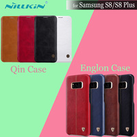 Nilkin Vintage Englon Case For Samsung S8 5 8 Inch Nillkin Qin Flip PU Leather Hard