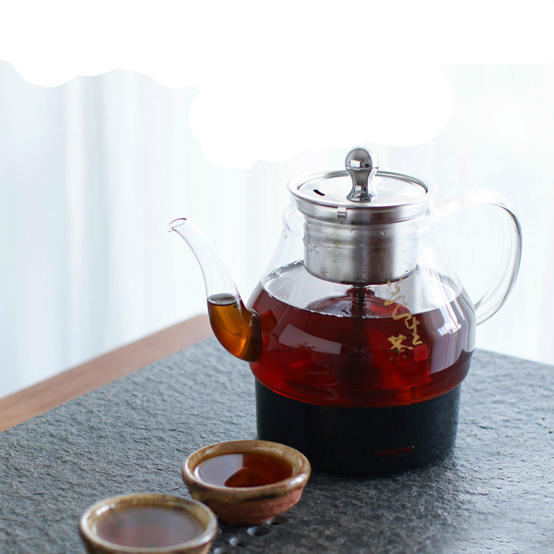 Electric kettle Black tea boiled machine automatic glass curing pot steaming electrothermal steam Overheat Protection electric kettle automatic glass cooking pot steaming curing electric heating steam tea black tea boiled overheat protection