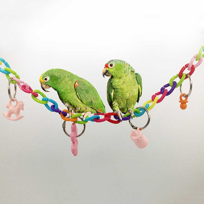 Новая продажа попугай птица игрушки для жевания скалолазание качели игрушки для клетка для попугая лестницы Windchimes забавные Птицы Играть игрушки