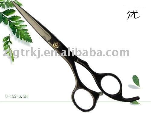 Hairdressing Scissors U-152-6.0,BLACK TITANIUMED,4CR steel, WHOLESALE!~