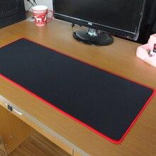 Alfombrilla de ratón para juegos pbpad Borde de bloqueo, roja/negra, de alta calidad, grosor de 5mm, alfombrilla de ratón más gruesa, alfombrilla de ratón, tapete de mesa para teclado