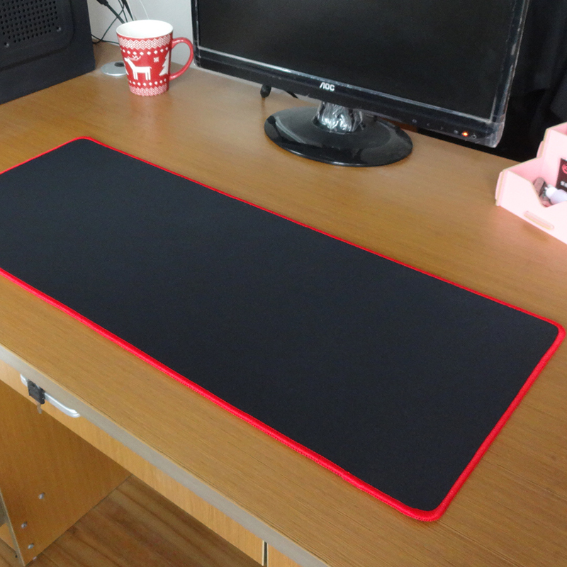 Pbpad Gaming Mouse Pad Locking Edge Red/Black High Quality Thickness Of 5mm  Thicker Mousepad Mouse Mat Keyboard Mat Table Mat