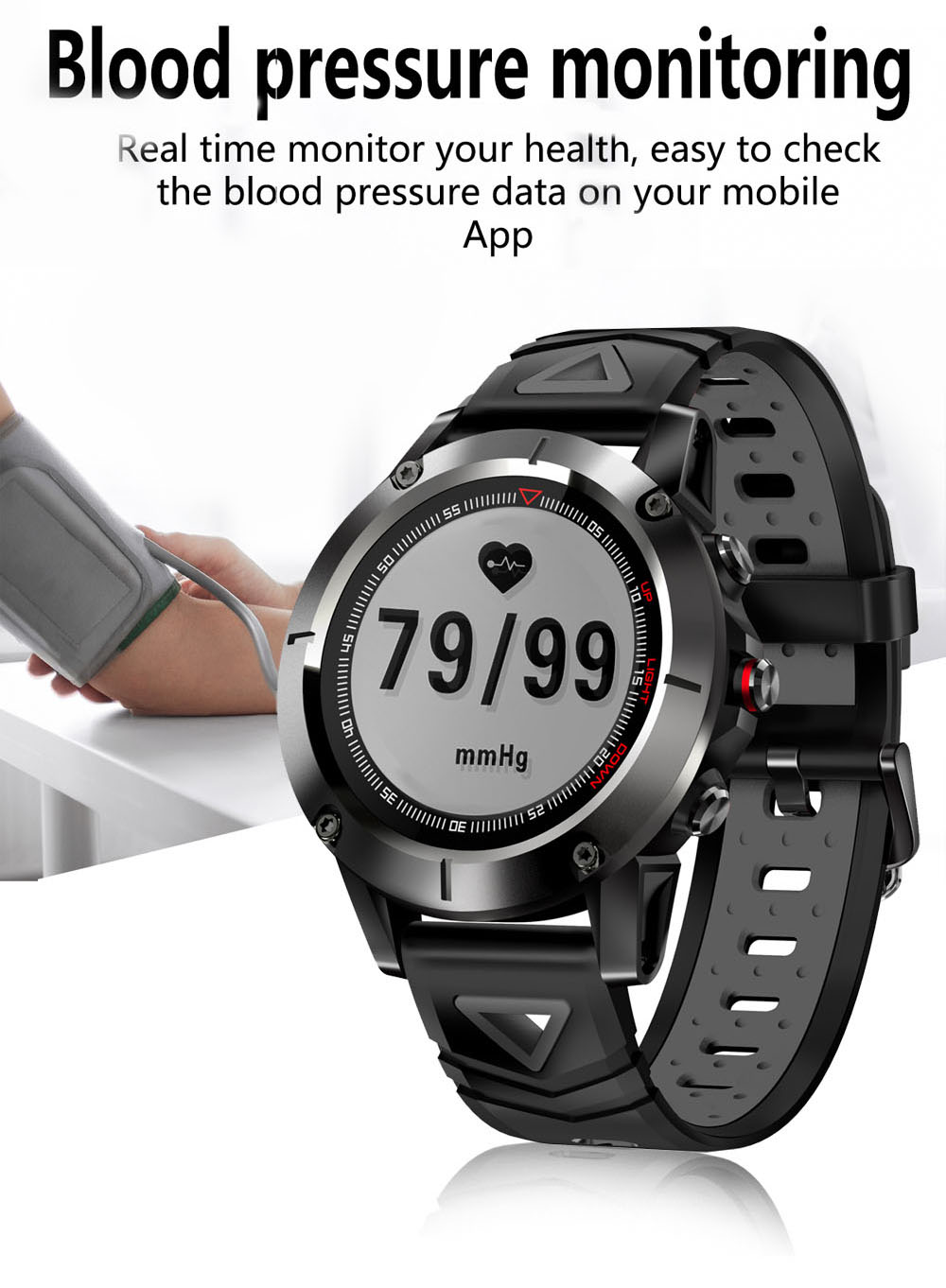 G01 GPS Smart Watch Men IP68 Waterproof Heart Rate Monitor Bluetooth Wristwatch Sports Compass Smartwatch for Android IOS watchs-in Smart Watches from Consumer Electronics    1