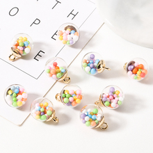 10pcs 16mm Colorful Candy Bubble Pendant Transparent Ball Charms Acrylic Finding Earrings Hair Jewelry Accessory FX001