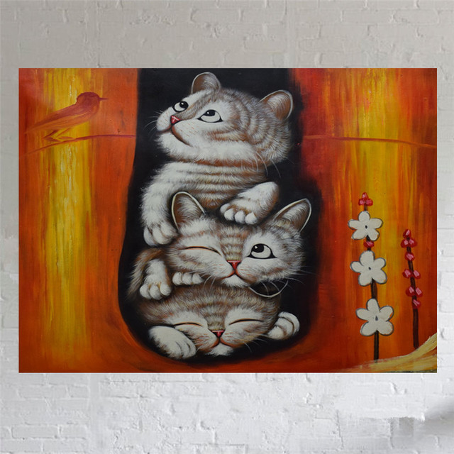 Pinturas Realistas Animales Lienzo Pintura Al óleo Pintada A Mano