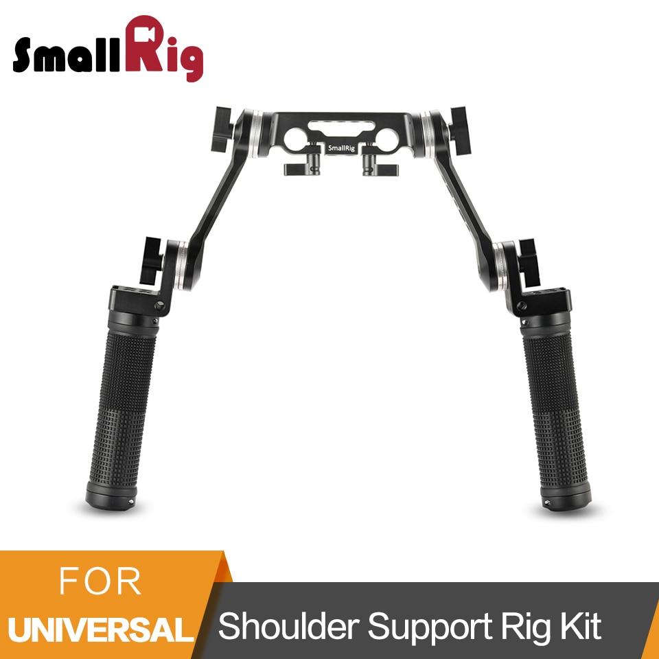 SmallRig Резиновые Плечо Поддержка Rig комплект Arri розетки Rig плечевая стабилизатор ручка комплект с 15 мм стержень крепление -2002