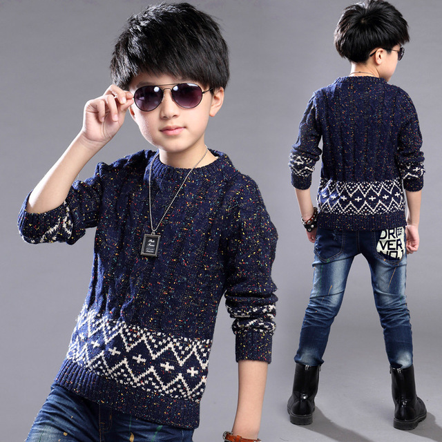 Autumn Boys Sweaters Kids Winter Sweater 2016 Cotton Casual Fall