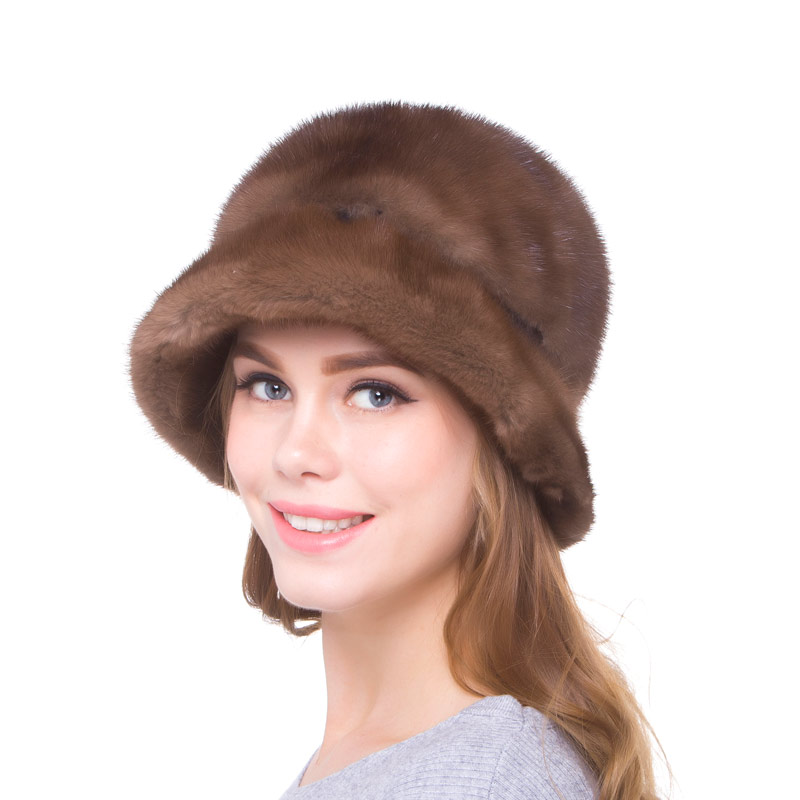 Autumn and winter female street fashion warm hat natural mink fur size adjustable hand-made 2018 new discount free shipping