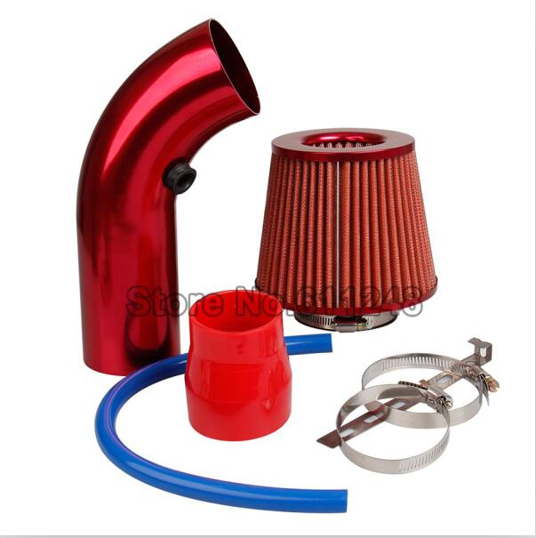 Universal Car Racing Refit Cold Air Intake Induction Pipe Kit Filter Tube System