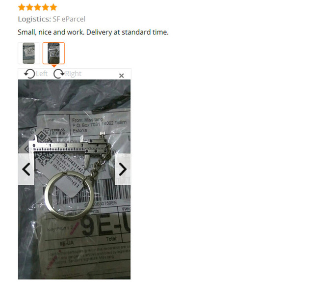 Fashion KeyChain Metal Movable Vernier Caliper Ruler Model  Keychain Key Chain Keyring Keyfob Tool  Pendant Gift drop shipping