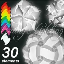 250 MM nowoczesne współczesna elementy DIY IQ zestaw puzzli ZE klosz lampy wisior sufitowy lampa nowość żarówka światła 110 240 V