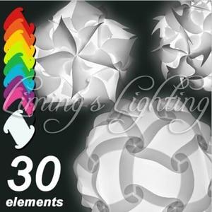 Image 1 - 250ミリメートル現代現代diy要素iqジグソーパズルzeランプシェード天井ペンダントランプnovelty照明ボールライト110 240ボルト