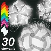 250mm moderne zeitgenössische diy elemente iq puzzle ze lampenschirm deckenpendelleuchte novelty beleuchtung kugel licht 110 240 v
