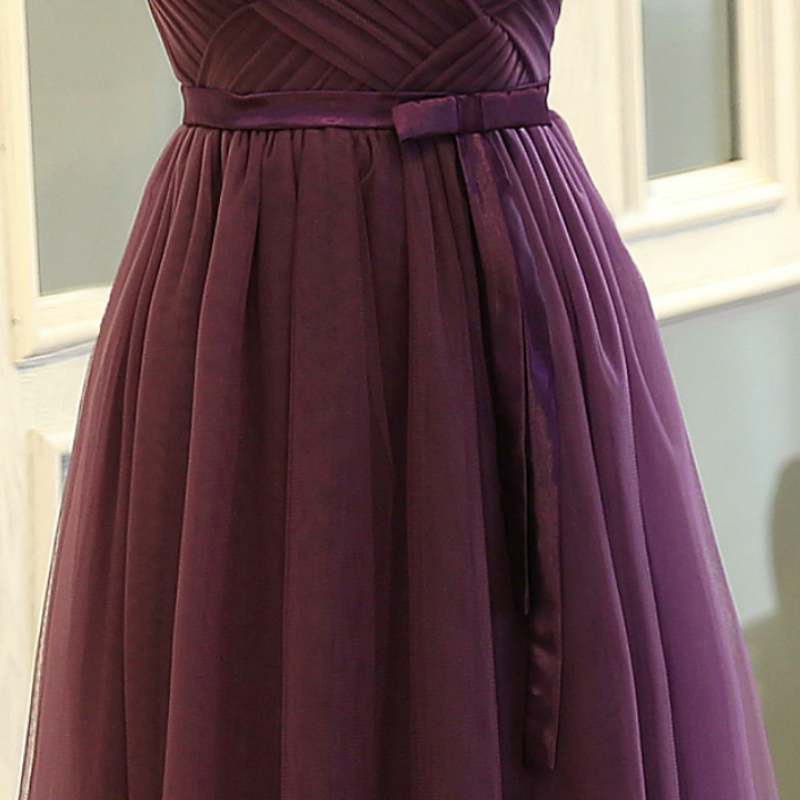 SOCCI Weekend Strapless Purple Long Evening Dress Charming Tulle Burgundy Evening Gown Formal Wedding Reception Vestido de Longo 13
