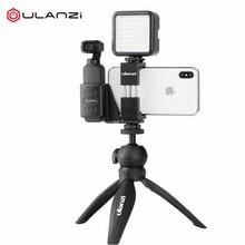Ulanzi OP 1 Osmo Pocket Smartphone Tripod Mount Fixed Stand Bracket Holder w Mini LED Video Light for DJI Osmo Pocket Gimbals