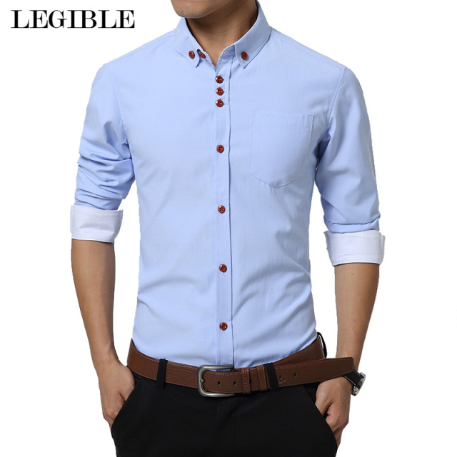 Aliexpress.com : Buy 2017 New Fashion Casual Men Shirt Long Sleeve ...