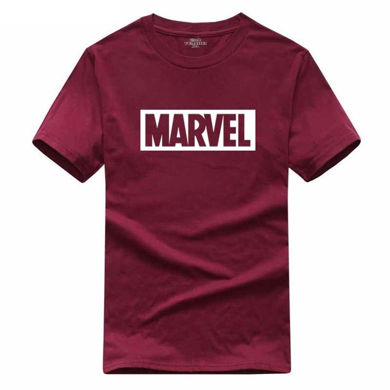 2018 New Fashion MARVEL t-Shirt men cotton short sleeves Casual male tshirt marvel t shirts men tops tees Free shipping