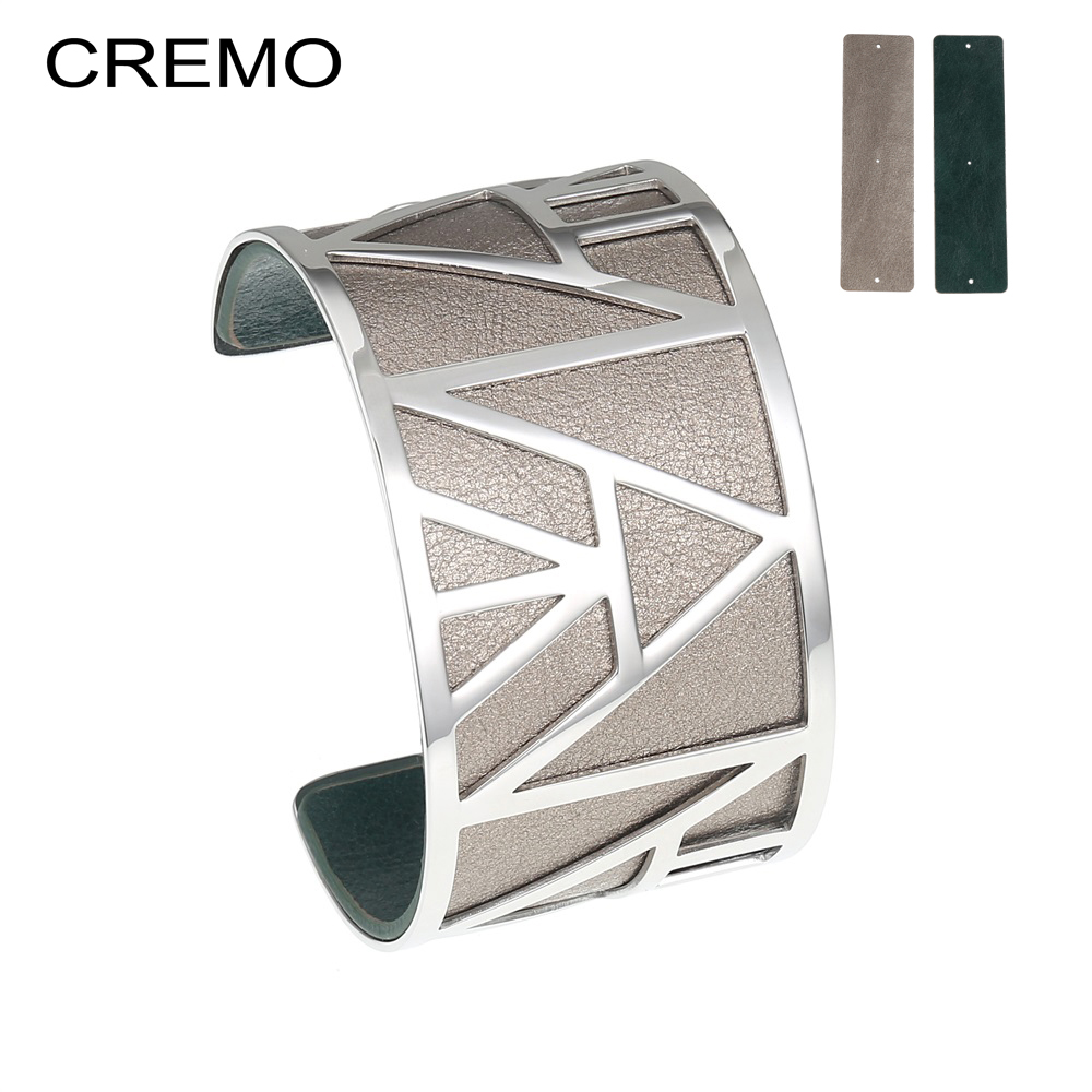 Cremo Bracelets Bangles for Women Jewelry Stainless Steel Bracelet Fashion Silver Color DIY  Leather Reversible Love Cuff BangleCremo Bracelets Bangles for Women Jewelry Stainless Steel Bracelet Fashion Silver Color DIY  Leather Reversible Love Cuff Bangle