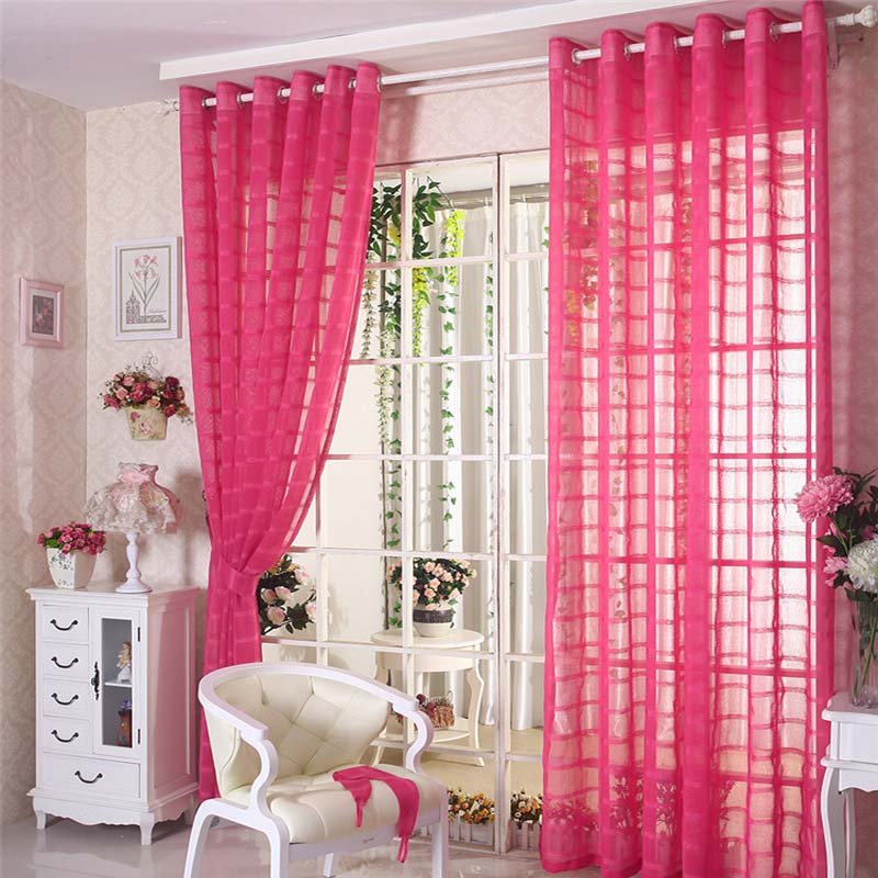 New tulle curtains for living room Organza modern curtain 11 colors ...