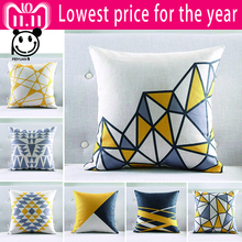 PEIYUAN Nordic Style Cushion Cover Gray Yellow Decorative Pillows Geometric Cushions Covers Home Decor Throw Pillow Case 2018
