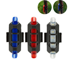 Hot Selling USB Rechargeable Bike LED Tail Light Bicycle Safety Cycling Warning Rear Lamp Drop Shipping(China)