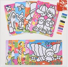 2pcs Colorful sand painting drawing paper with sand kindergarden drawing font b toys b font