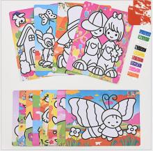 2pcs Colorful sand painting drawing paper with sand kindergarden drawing toys