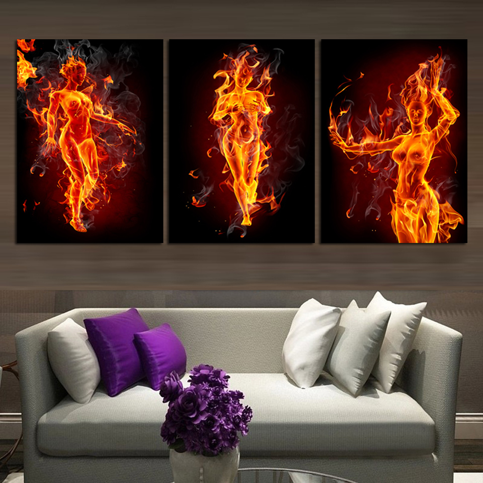 Living Room Paintings Art Aliexpresscom Buy Canvas Painting Modernism Abstract Nude Girls