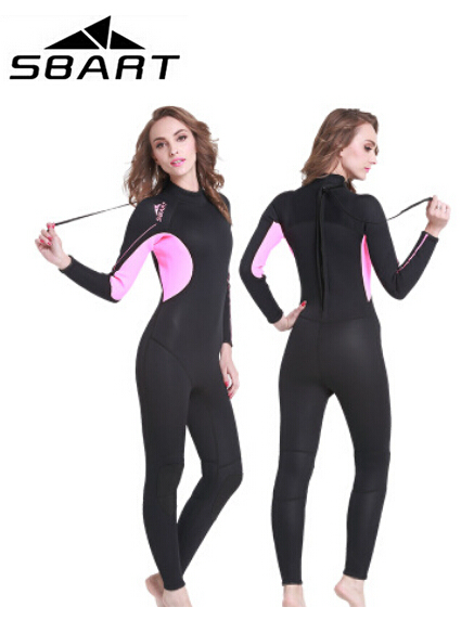 SBART 3mm Neoprene Wetsuit Men / Women's Diving Wetsuit Full Body Sports Skins for Diving, Snorkeling ,Surfing,and Swimming