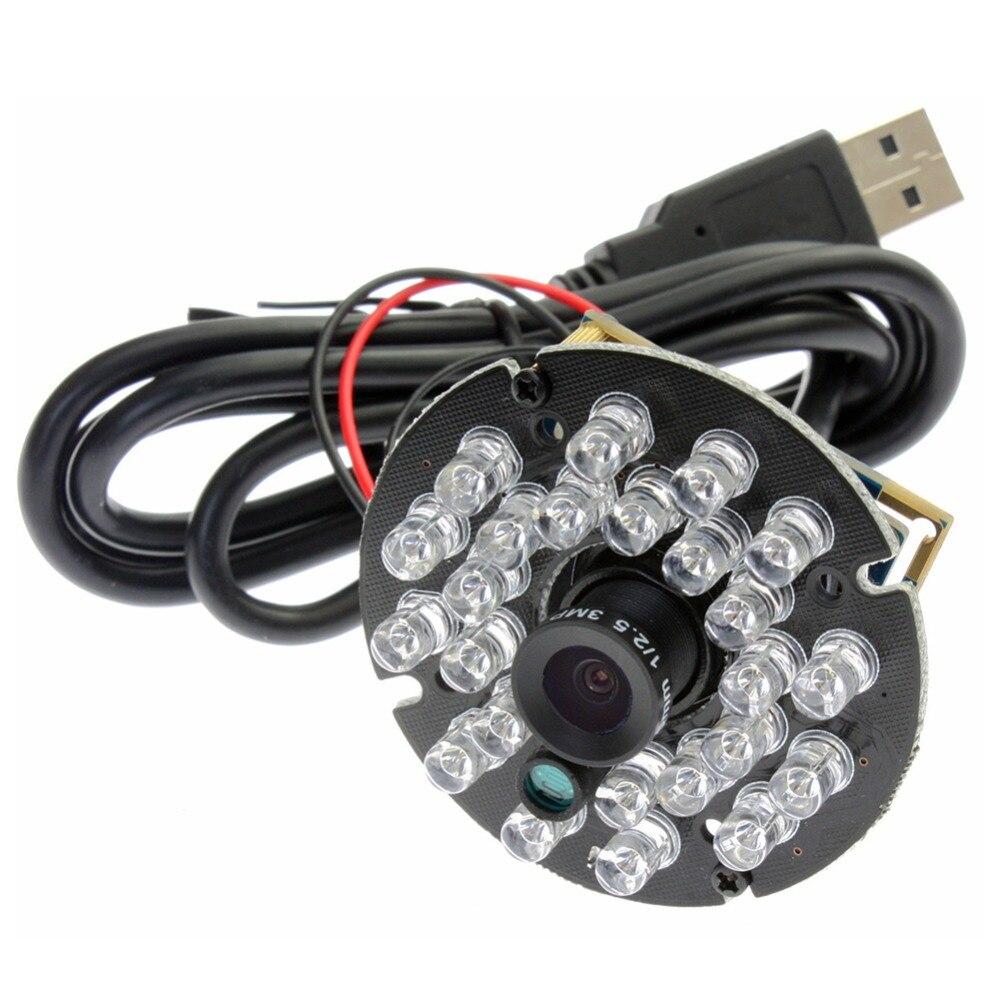 Güvenlik ve Koruma'ten Gözetim Kameraları'de 1.0 megapiksel 720 p hd mini CMOS OV9712 MJPEG 30fps YUY2 Mjpeg UVC 1mp web cam kızılötesi ir usb kamera mikrofon title=