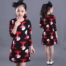 2016 Special Offer Minnie Mouse In Spring And Autumn New Korean Winter Skirt With Terry Mother Of Women Dress Cartoon Children