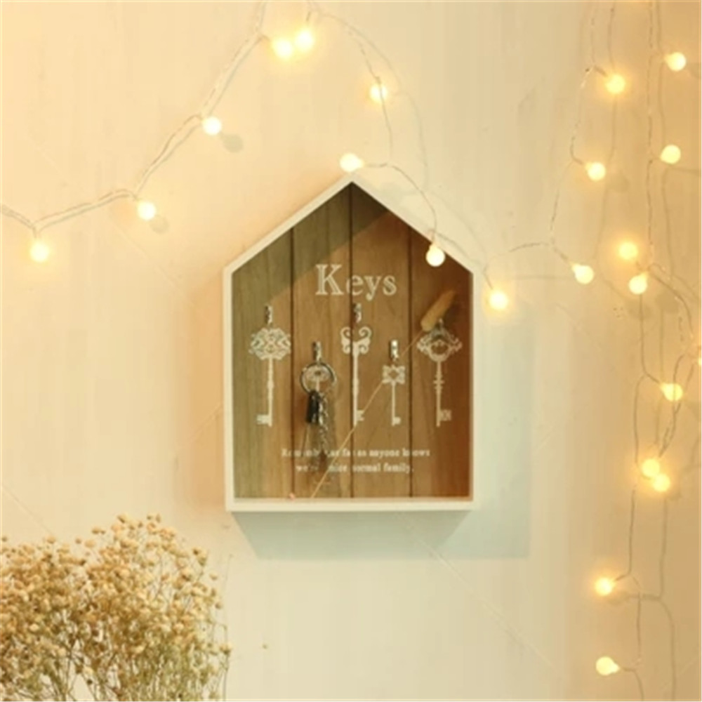 Home Decor Wooden Key Boxes Wall Hanging Decoration Wall Shelf Wood ...