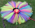 Children Selling Candy Multicolor Europe Bust Skirt Gauze Tutu Skirt Girls TUTU Skirt Rainbow Colors