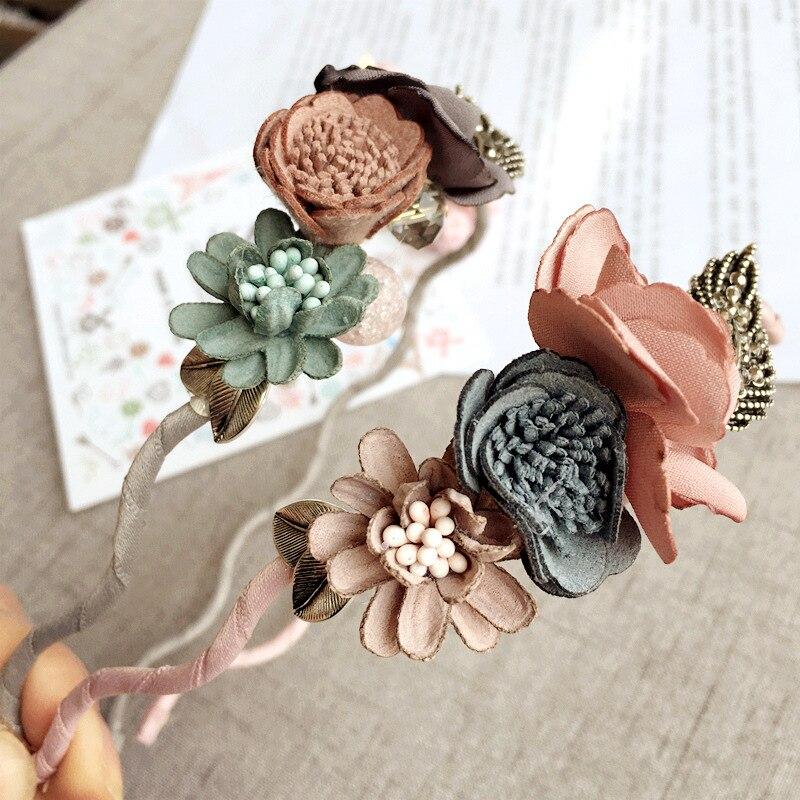 Korea Spring Flowers Hand Made Fabric Flowers Retro Hair Accessories