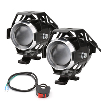 2Pieces Motorcycle Accesorios Moto CREE Chip Headlight LED 125W 3000LM 12V Driving Spot Head Lamp Fog