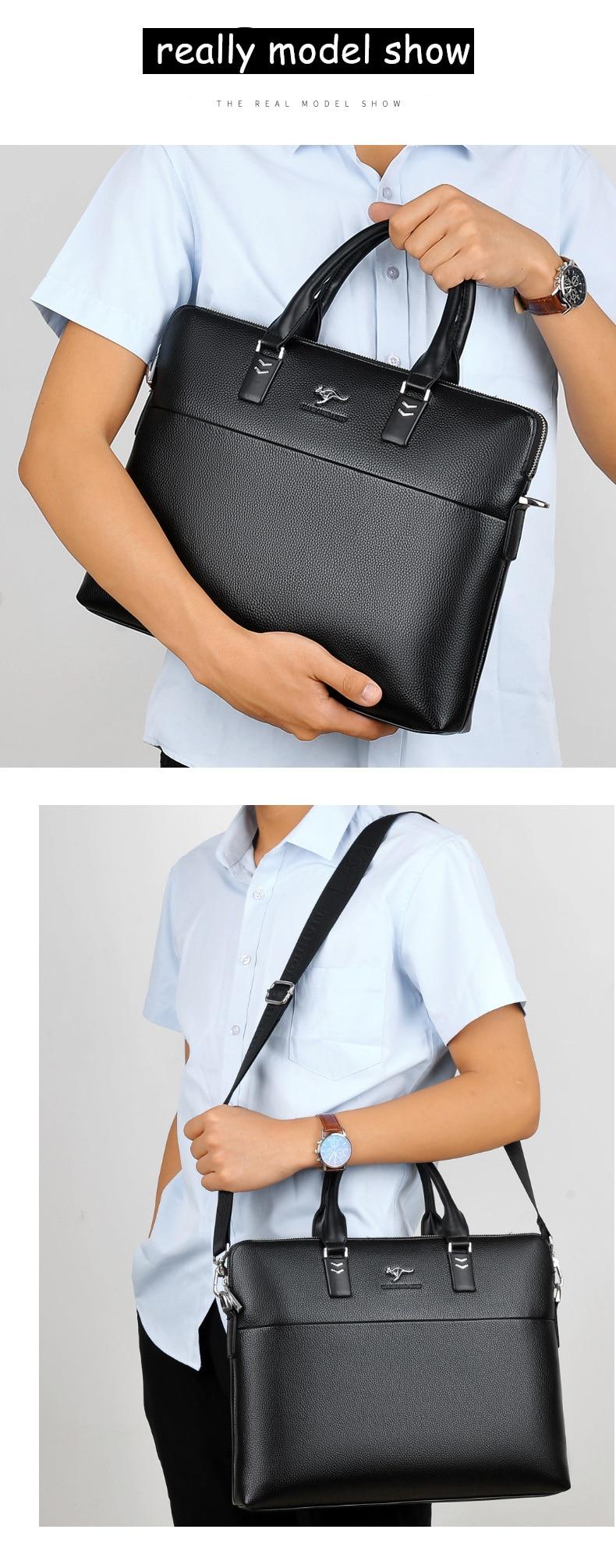 HTB1pk2Wdgb.PuJjSZFpq6zuFpXaZ TIANHONGDAISHU Men Casual Briefcase Business Shoulder Leather Messenger Bags Computer Laptop Handbag Men's Travel Bags handbags