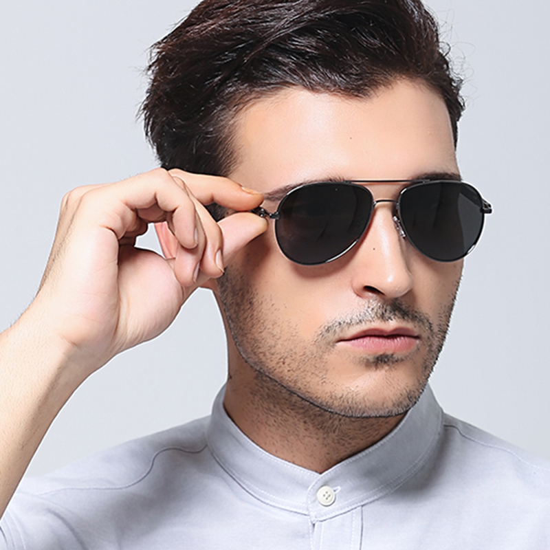 GY SNAIL 2018 Classic Brand Aviation Sunglasses men HD Polarized Driving Luxury Sun glasses male driving Hot Oculos De Sol ray
