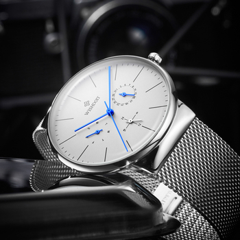 592e698aafb2 WISHDOIT Mens relojes Top marca de lujo de los hombres reloj deportivo  hombres ultra-Delgado impermeable reloj de cuarzo Relogio Masculino