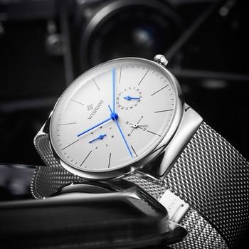 WISHDOIT Mens watches Top Brand Luxury Men's Casual Sports Watch Men ultra-thin Waterproof Quartz Wristwatch Relogio Masculino