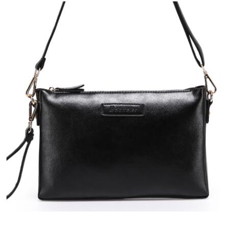 Fashion Brand Genuine Leather Women Messenger Bag Zipper Black Crossbody Vintage Satchels Ladies Sac A Main Femme