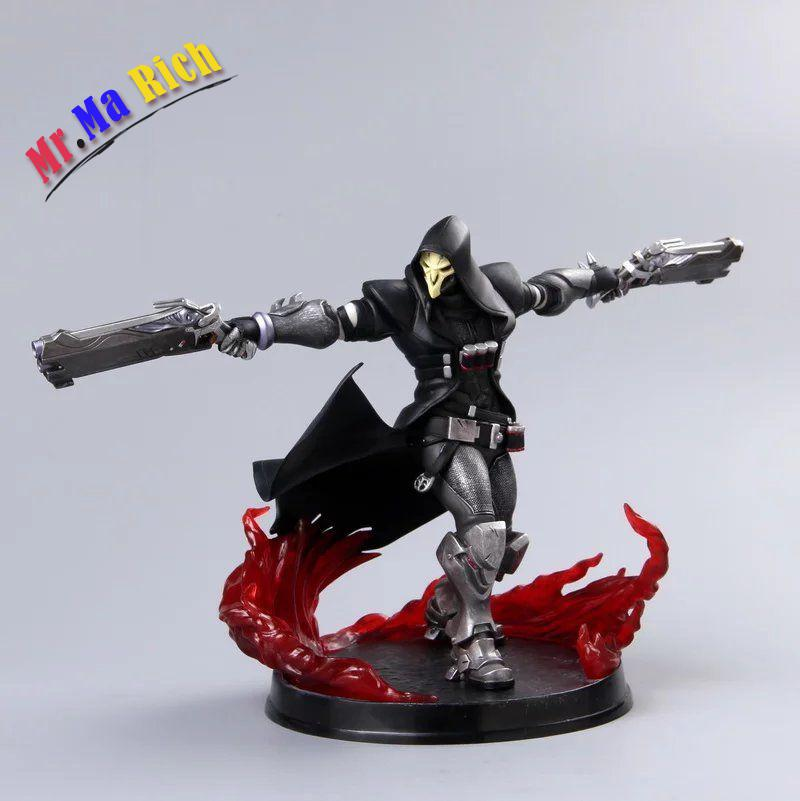Ow Heros Reaper Gabriel Reyes Pvc Action Figures Fans Toys all characters tracer reaper widowmaker action figure ow game keychain pendant key accessories ltx1