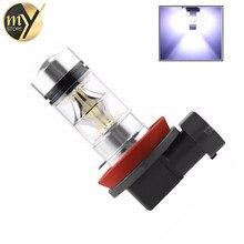 H8 H9 H11 супер яркие светодиодные лампы автомобилей туман ДРЛ Вождение задний фонарь автомобиля источник света парковка 1250LM 12 в-24 В 100 Вт 6000 К белый