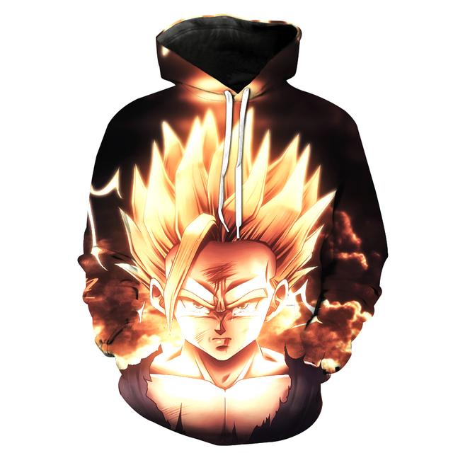 Goku Face Super Saiyan 3D Hoodie
