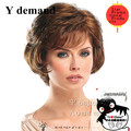 Short bob wigs for black women Brown red hair Perucas Femininas Afro Top Quality Perruque Synthetic Wig cheap natural